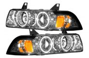 CG� - Chrome CCFL Halo Projector Headlights with Amber Reflectors G2 - E36 4DR