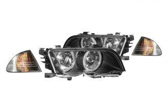 CG® - Black Halo Projector Headlights with Corner Lights and Amber Reflectors