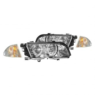 CG® - Chrome Halo Projector Headlights with Corner Lights and Amber Reflectors