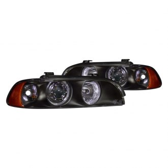CG® - Black Halo Projector LED Headlights