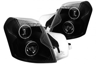 CG® 02-AZ-CCT07-PBC-R - Black Halo Projector Headlights