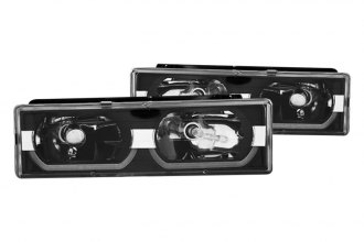 CG® - Black Low-Brow Style Euro Headlights
