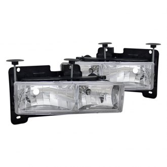 CG® - Chrome Euro Headlights with Bulbs