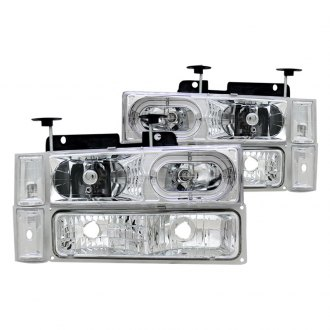 CG® - Chrome Halo Euro LED Headlights with Signal and Side Marker Lights