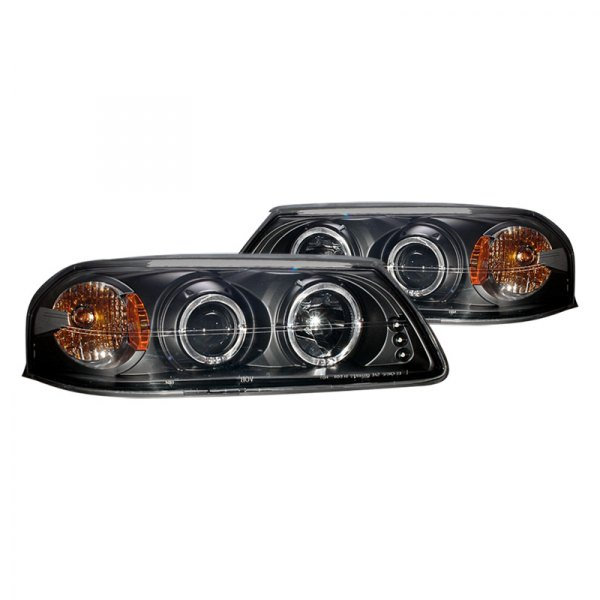 CG® - Black Halo Projector Headlights with Amber Reflectors