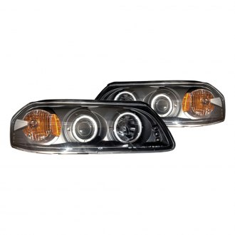 CG® - Black Halo Projector Headlights with LED DRL