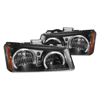 CG® - Black Dual Halo Euro Headlights with LED DRL