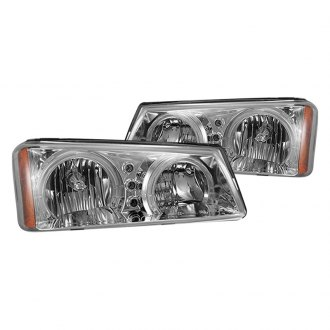 CG® - Chrome Dual Halo Euro LED Headlights with Amber Reflectors