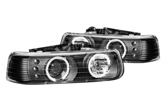 CG® - Black Halo Projector Headlights with LEDs G2