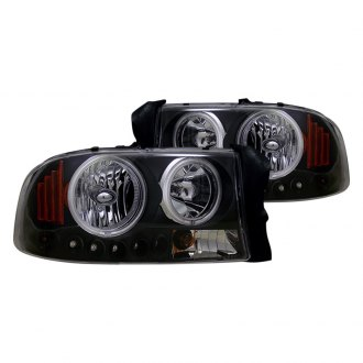 CG® - Black Halo Euro LED Headlights with Amber Reflectors
