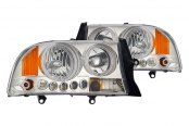 CG® - Chrome Halo Headlights with Amber Reflectors