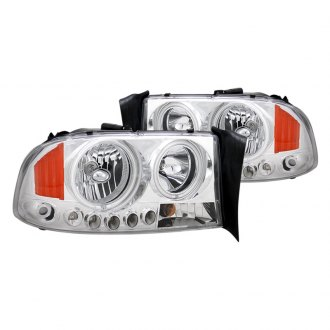 CG® - Chrome Halo Euro LED Headlights with Amber Reflectors