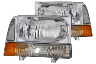 CG® - Chrome Euro Headlights with Corner Lights