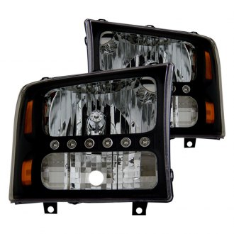 CG® - Black Euro LED Headlights with Amber Reflectors