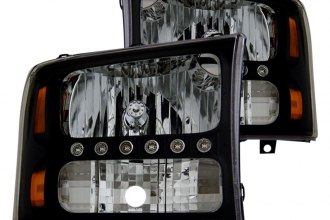 CG® - Black Euro Headlights with LEDs