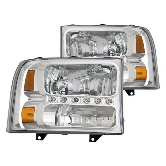 CG® - Chrome Euro LED Headlights with Amber Reflectors