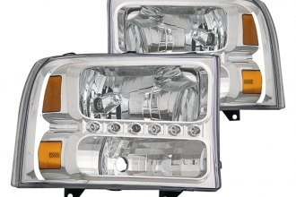 CG® - Chrome Euro Headlights with LEDs