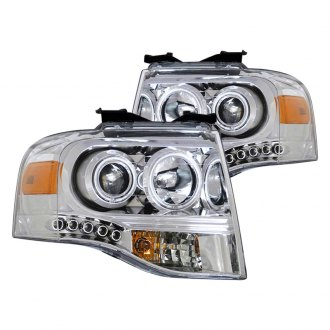 CG® - Chrome Halo Projector LED Headlights with Amber Reflectors