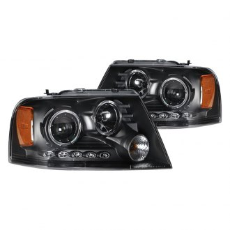 CG® - Black Dual Halo Projector LED Headlights