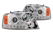 CG® - Chrome Dual Halo Projector Headlights with LEDs