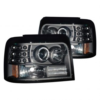 CG® - Black Halo Projector LED Headlights with Side Marker, Parking Lights