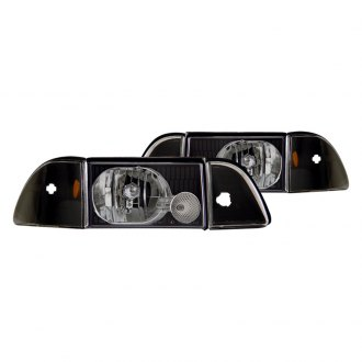 CG® - Black Euro Headlights with Corner and Parking Lights