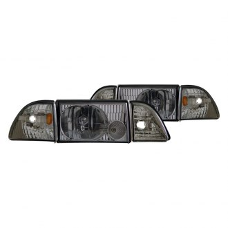 CG® - Chrome/Smoke Euro Headlights with Corner and Parking Lights