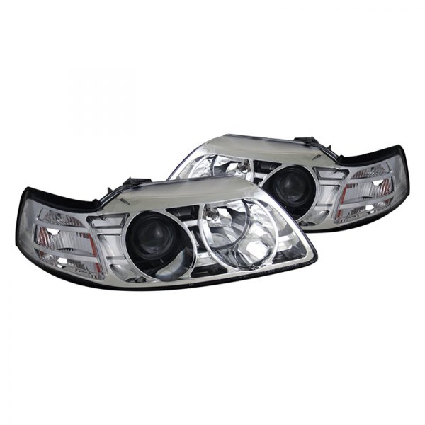 CG® - Ford Mustang 2001 Chrome Projector Headlights