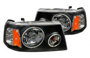 CG® - Black CCFL Halo Euro Headlights with LEDs