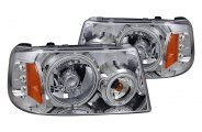 CG® - Chrome CCFL Halo Euro Headlights with LEDs