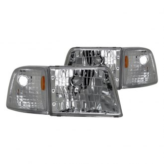 CG® - Chrome Euro Headlights with Amber Reflectors and Corner Lights