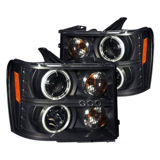 CG® - Black CCFL Halo Projector Headlights with LEDs