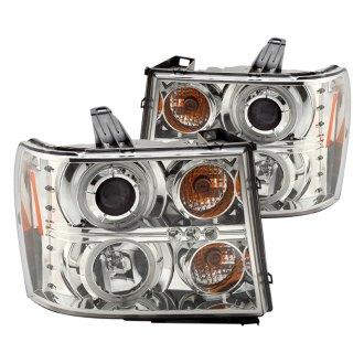 2008 Gmc Sierra Custom Amp Factory Headlights Carid Com