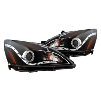 CG® - R8 Style Black Halo Projector Headlights with LED DRL