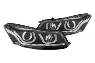 CG® - Black U-Bar Style Projector Headlights