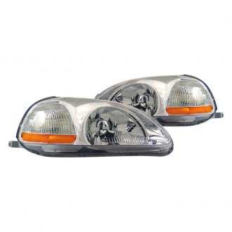 CG® - Chrome Euro Headlights with Amber Reflectors