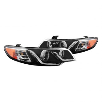CG® - Black LED U-Bar CCFL Halo Projector Headlights