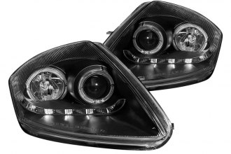 CG® - Black Dual Halo Projector Headlights with R8 LED Style