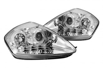 CG® - Chrome Dual Halo Projector Headlights with R8 LED Style