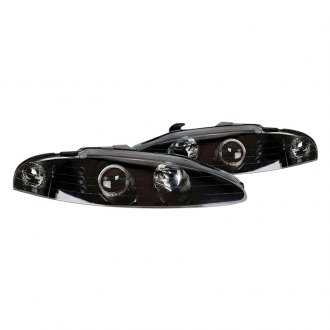 CG® - Black LED Dual Halo Projector Headlights with Parking LEDs