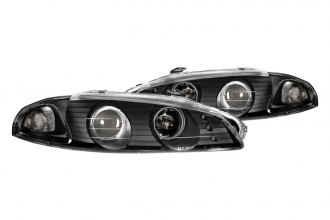 CG® - Black Single Halo Projector Headlights with LEDs G2