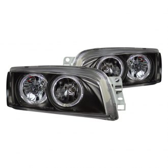 CG® - Black LED Halo Euro Headlights