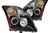 CG® - Black CCFL Halo Projector Headlights with Amber Reflectors