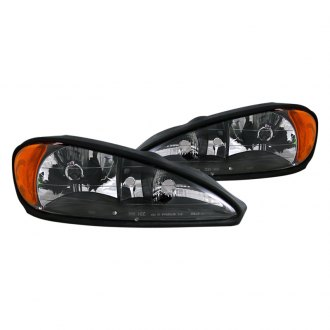 CG® - Black Euro Headlights with Amber Reflectors