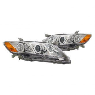 CG® - Chrome CCFL Halo Projector LED Headlights with Amber Reflectors