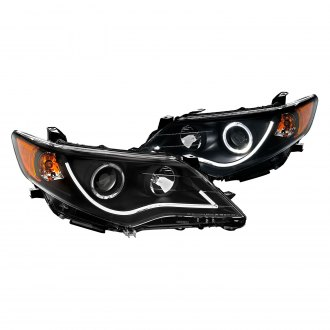 CG® - Black U-Bar Halo Projector LED Headlights
