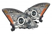CG® - Chrome CCFL Halo Crystal Headlights with Amber Reflectors