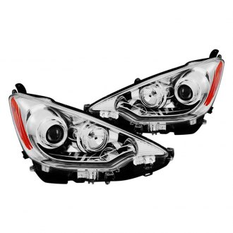 CG® - Chrome U-Bar Halo Projector LED Headlights with Amber Reflectors