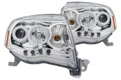 CG® - Chrome CCFL Halo Projector Headlights with LEDs, Amber Reflectors