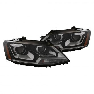 CG® - Black Projector LED Headlights with Amber Reflectors